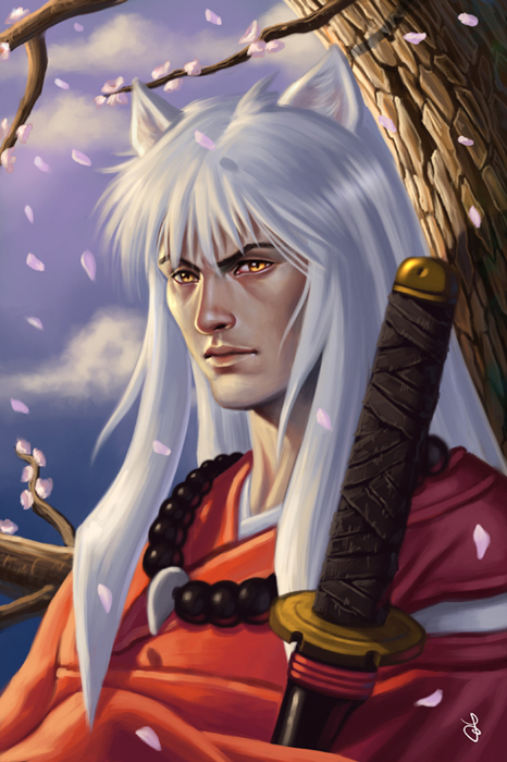 Inuyasha speed painting by SaraForlenza