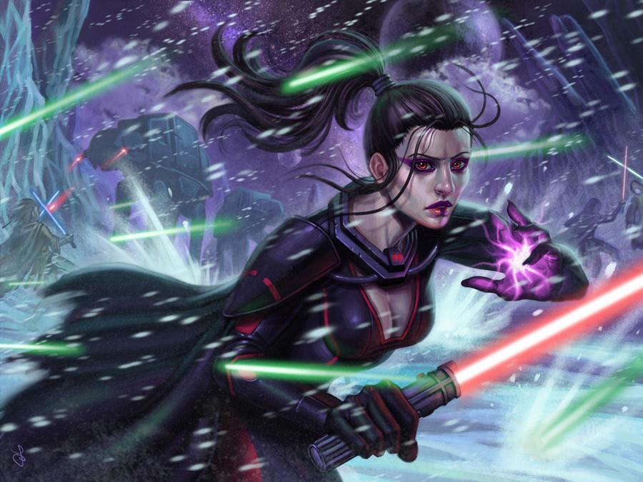 Sith girl in Ilum by SaraForlenza