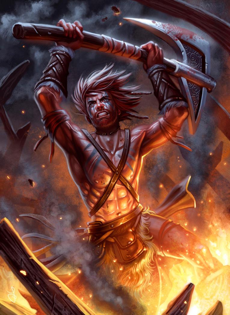 Barbarian rage by SaraForlenza
