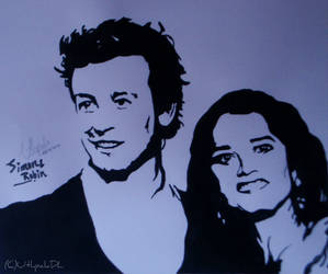 Simon Baker and Robin Tunney by UthpalaDL