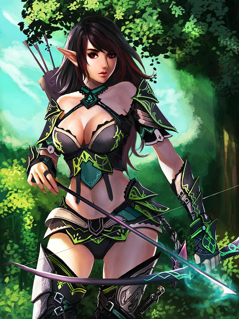 Elf Archer By Chaosringen On Deviantart
