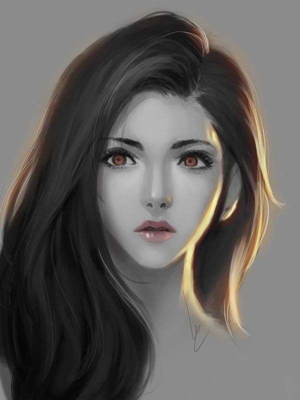 Doodle girl. by chaosringen