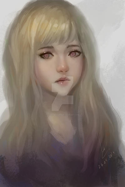 Doodle girl 3 by chaosringen