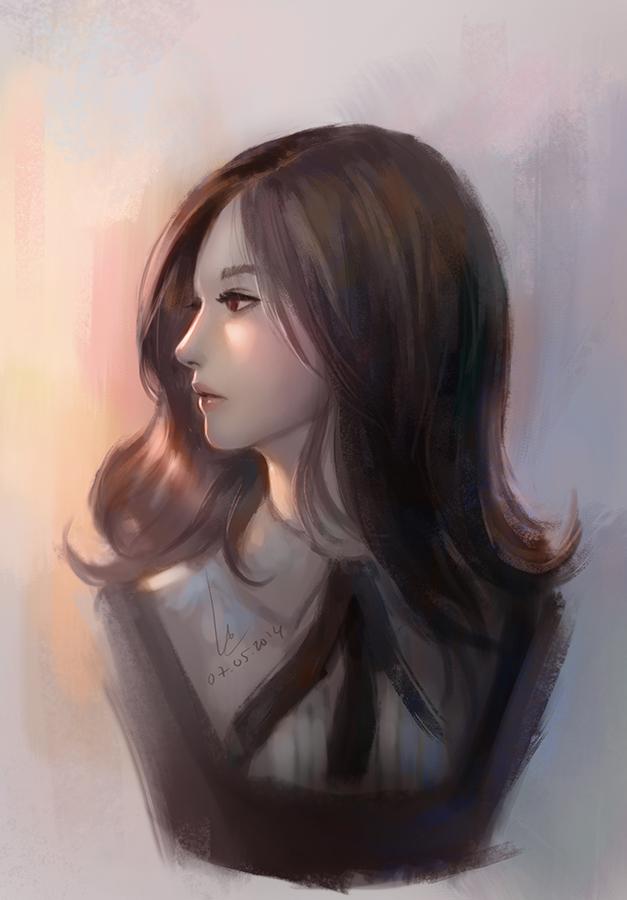 Doodle girl 6 by chaosringen