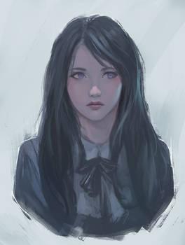Doodle girl 8 / study