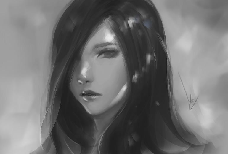 Doodle girl 12 by chaosringen