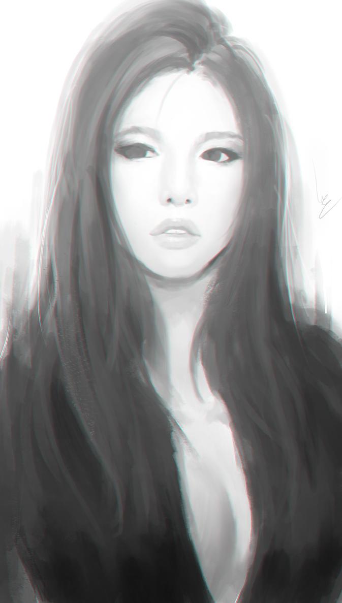 Doodle girl 13 by chaosringen
