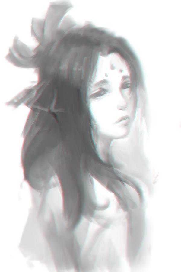 Doodle girl 14 by chaosringen