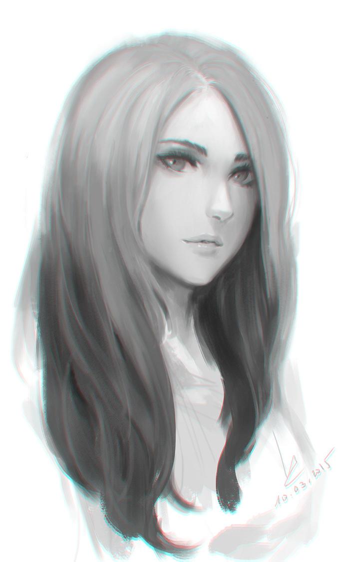 Doodle girl by ... Girl
