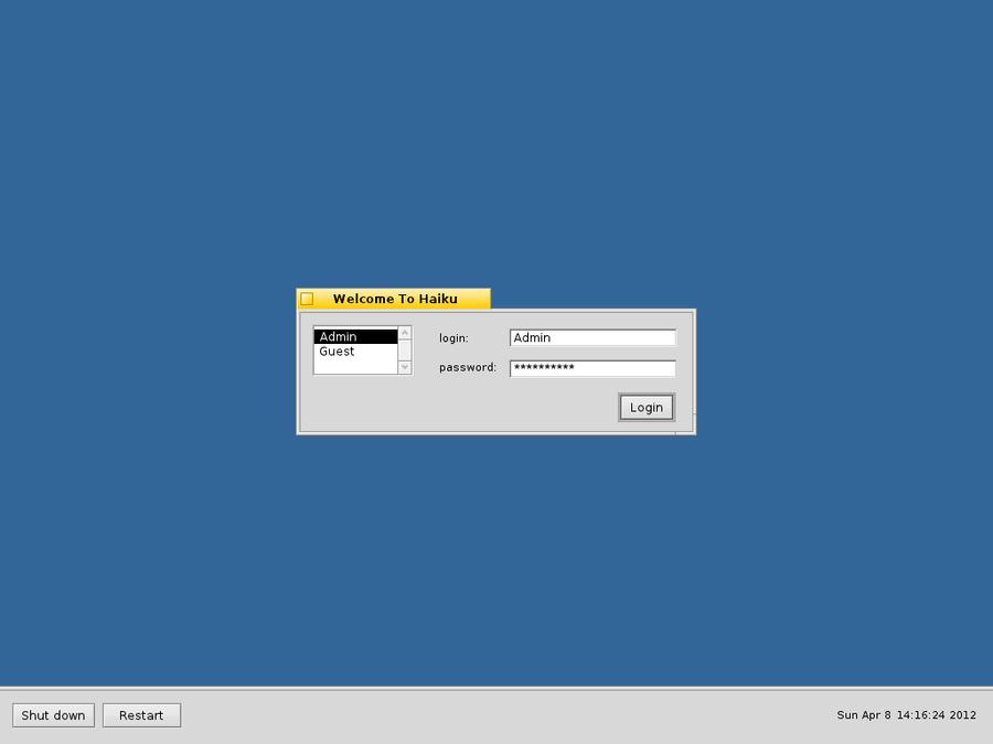 Login Screen - My final design   Haiku Project