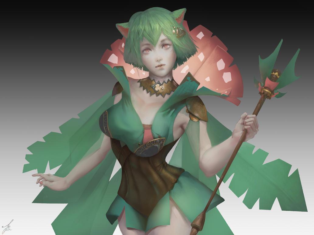 Venusaur Girl by Linfter