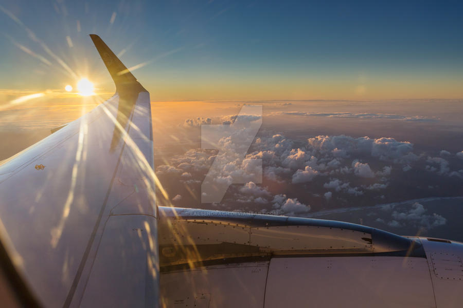 Sunrise Flight by falsendrach