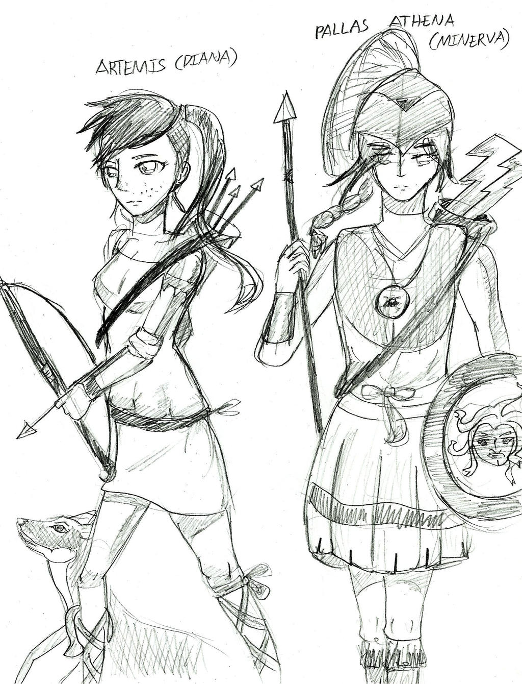 Artemis Greek Goddess Symbol Greek Mythology Athena