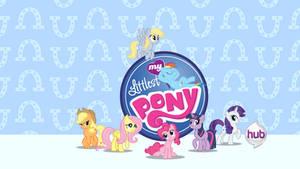 My Littlest Ponies Title Card (Faustless Version) by Brickstarrunner