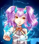 .:AT:. Blue Lights by Luna-rii