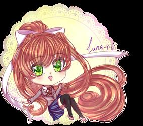 Chibi Monika by Luna-rii