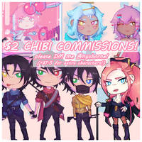 $2 Chibi Commissions! [PAYPAL] by nyxborne