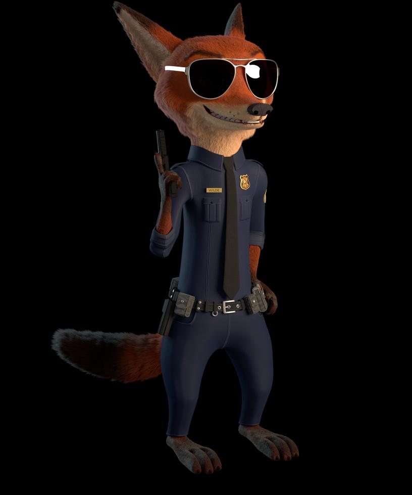 Zootopia Nick Wilde Police 3D Model By John2903 On DeviantArt