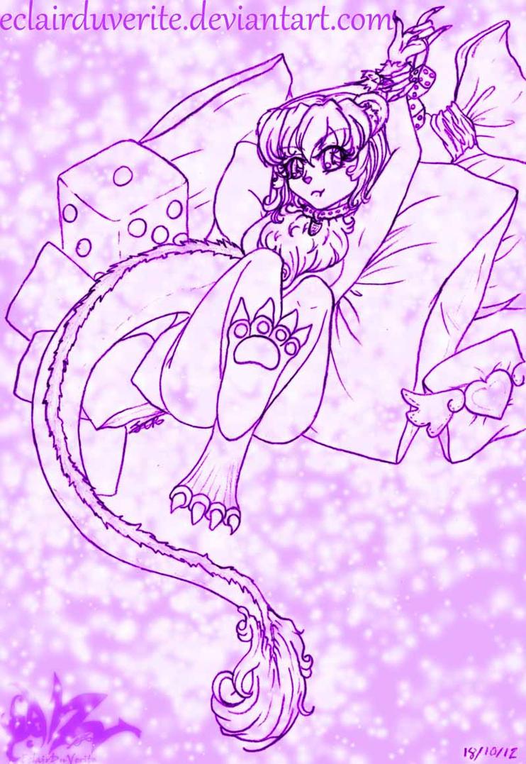 Teddy bear dragon girl RANDOMNESS by EclairDuVerite