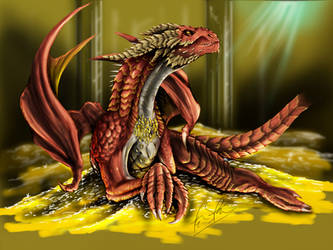 Smaug the Golden by franeres