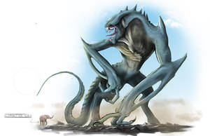 Gorilla Kaiju Concept by franeres