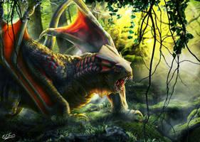 Gorilla Dragon - Full color by franeres