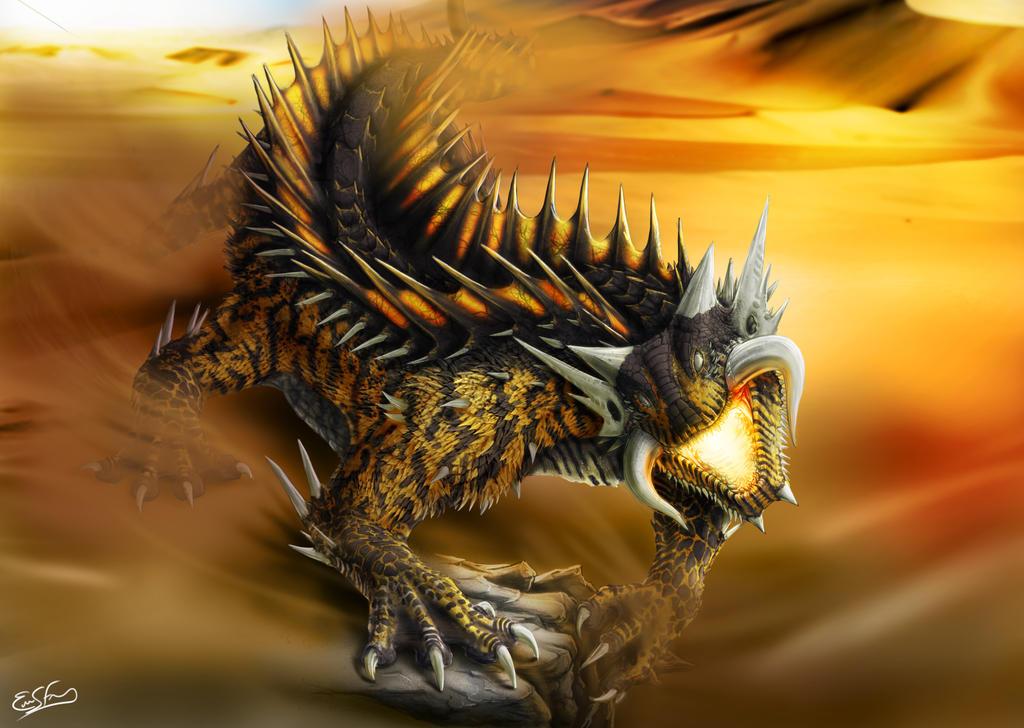 Desert Dragon full color by franeres
