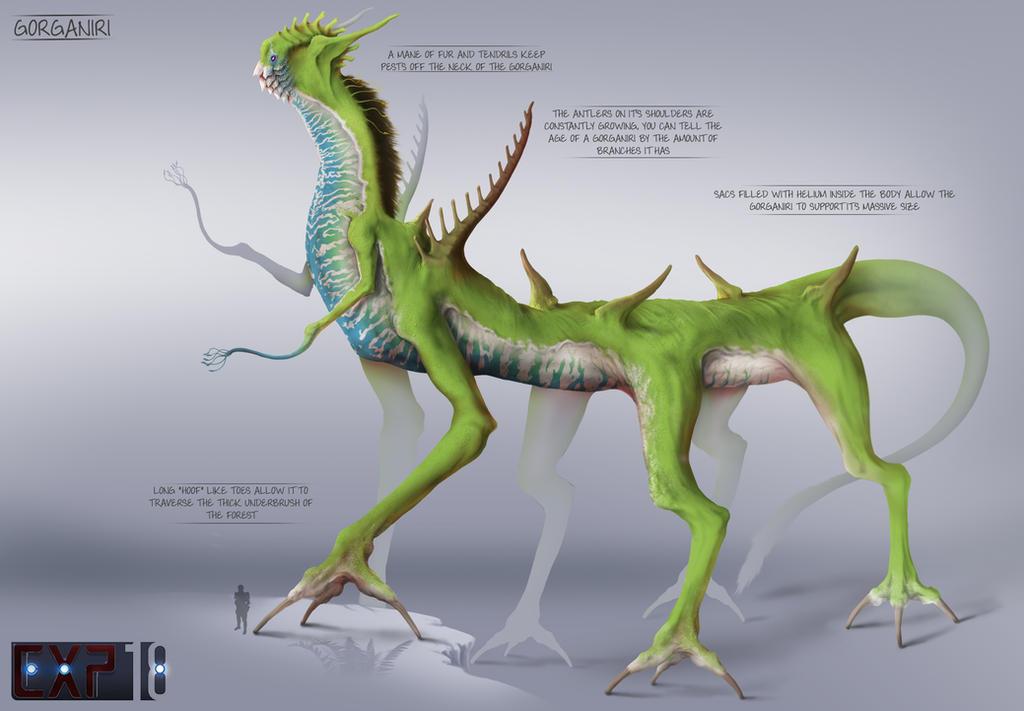 Gorganiri Creature Concept Sheet by franeres