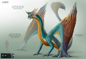 Ecoathi Creature Concept Sheet by franeres