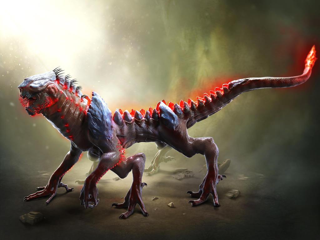 Rynyx Creature Concept Sheet - Zbrush model