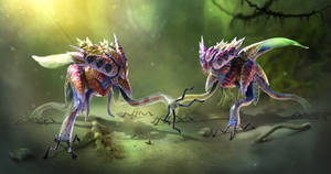 Salticere Creature Concept Sheet - Zbrush model