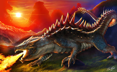 Dragon Photoshop Render by franeres