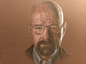 Walter White from Breaking Bad prismacolor drawing