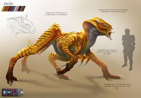 Irikari Creature Concept Sheet by franeres