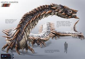 Greater Eshirapoda Creature Concept Sheet by franeres
