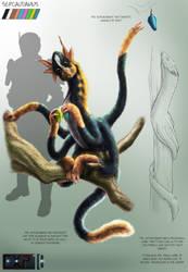 Sepcaudamus Creature Concept Sheet