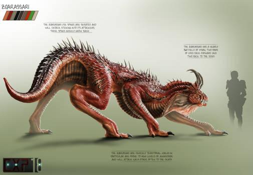 Zoarassari Creature Concept Sheet