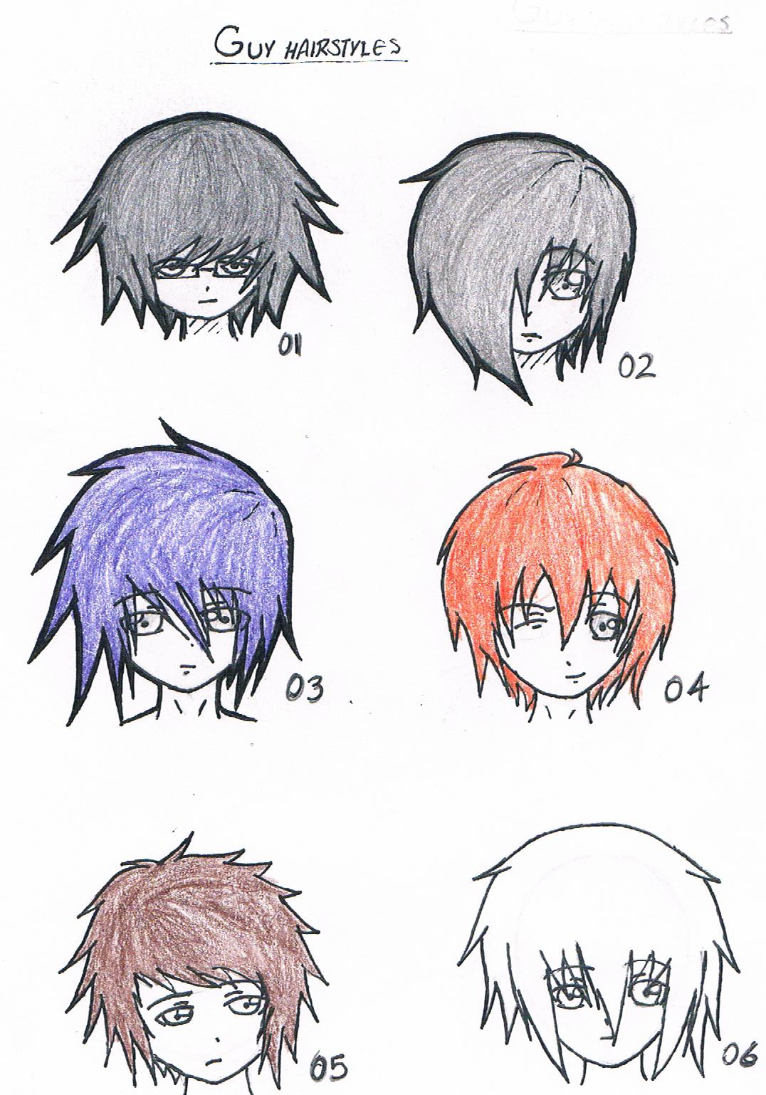 anime boy hair styles hairstyles by blackheart4549 on deviantart 7664