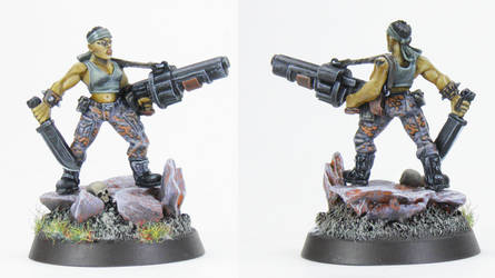 Catachan Female with grenade launcher - SOLD by PrincipeFenice