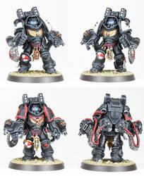 Black Templars Primaris Aggressors - Commission by PrincipeFenice