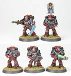 Horus Heresy Word Bearers Squad B - Commission by PrincipeFenice