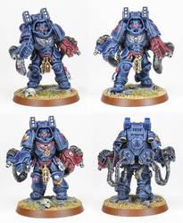 Crimson Fists Aggressors Squad by PrincipeFenice