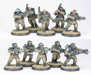 Cadian Shock Troops Squad 2 - Commission by PrincipeFenice