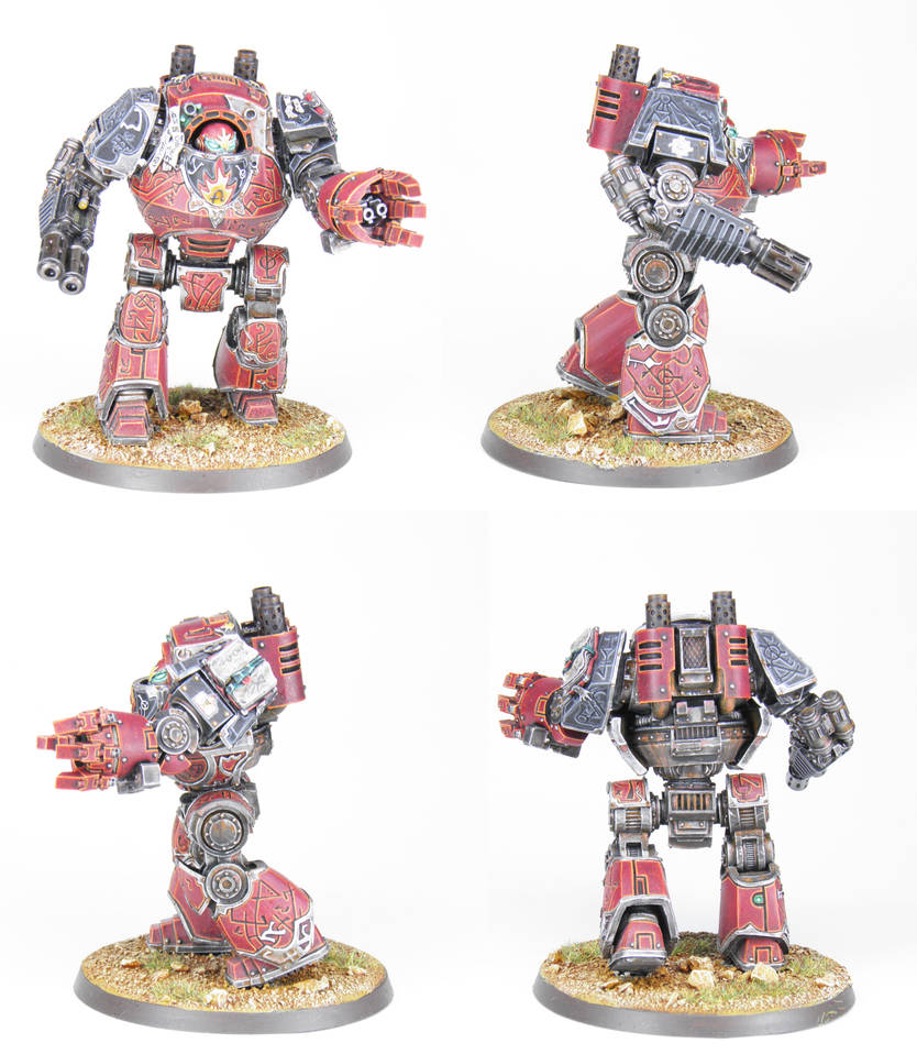 Horus Heresy Word Bearers Dreadnought - Commission by