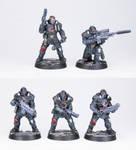 Necromunda Palanite Enforcer Patrol A - Commission