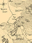 Elven Roses Map - Lusea and surrounding lands