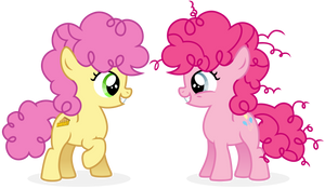 Pinkie Pie and Lil Cheese