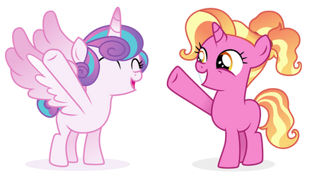 Flurry Heart and Luster Dawn - crossover by Cirillaq