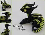 Butterfly Dragon Lime Green