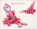 Valentine's Day Squid pink and white